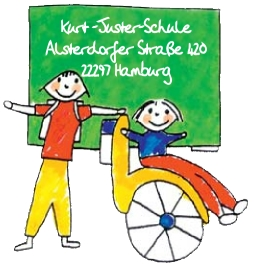 Das Schullogo der Kurt-Juster-Schule